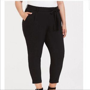 Torrid Tie Front Black Cigarette Pants